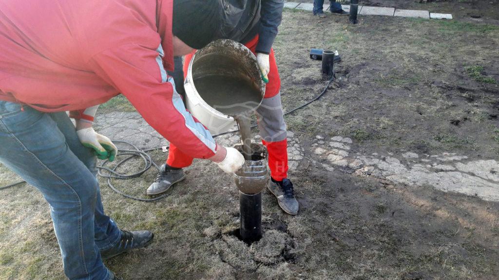 технология заливки винтовых свай бетоном после закручивания